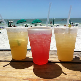Cooling Off At The Beach by Lorna Littrell - Food & Drink Alcohol & Drinks (  )