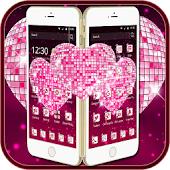 Pink theme glass love APK for Bluestacks