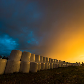 Hay bales to heaven by Patrick Pedersen - Landscapes Weather ( hay balls, hay bales )