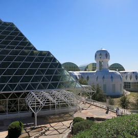Space Camp Earth by Eric Hansen - Buildings & Architecture Other Exteriors ( desert, greenhouse, arizona, biosphere 2, science )