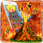 Cute Volcanic Lava Theme Icon