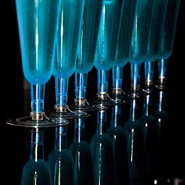 OBJETOS AFILADOS by Yako Laverde - Artistic Objects Cups, Plates & Utensils ( colour, reflextion, indoor, vidrio, copas,  )