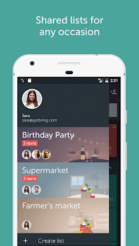 Bring! Shopping List APK screenshot thumbnail 3
