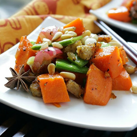 Orange Sweet Potato Stir Fry