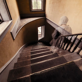 Ghost Stairs by Evan Jones - Digital Art People ( 2017, virginia city, cassidy, yellowstone, cassie, little house, pioneer, family, nevada city, bannock )