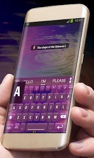 Purple Universe AiType Theme - screenshot