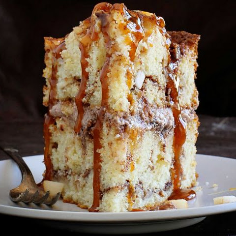 Apple-Cinnamon Layer Cake with Gooey Caramel Drizzle