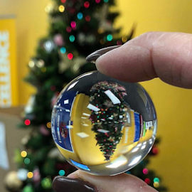 by Melissa Poling - Artistic Objects Glass ( abstract, explore, lensball, creative, christmas tree, photography,  )