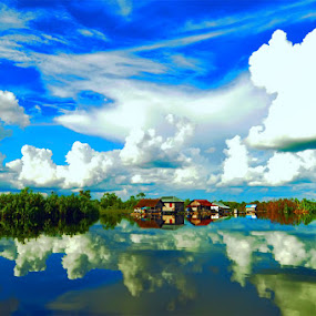 reflection by Niin Peweel - Landscapes Cloud Formations ( cloud, landscapes )