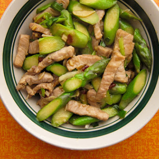 Wild Boar Stir-Fry with Asparagus