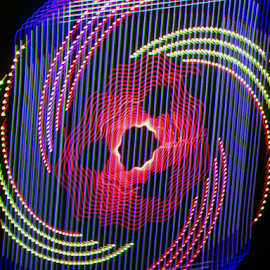 Jack in the box  by Jim Barton - Abstract Patterns ( laser light, jack in the box, colorful, light design, laser design, laser, laser light show, light, science )