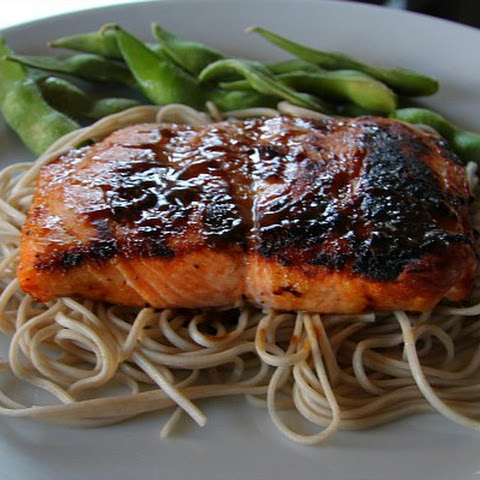 EASY Salmon With Brown Sugar And Mustard Glaze