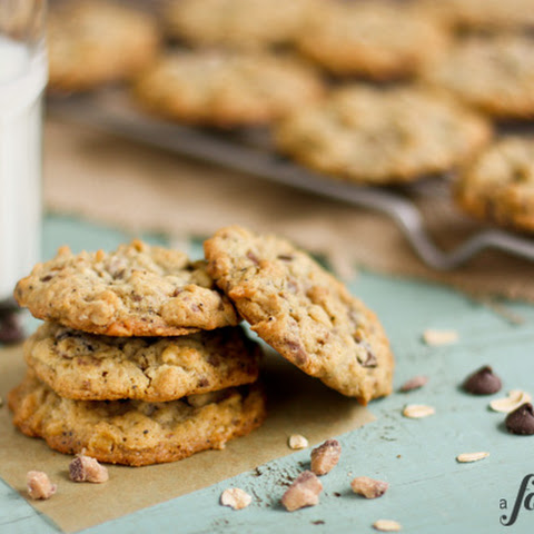 Chocolate Chip Oatmeal Cookies with Toffee & Coffee