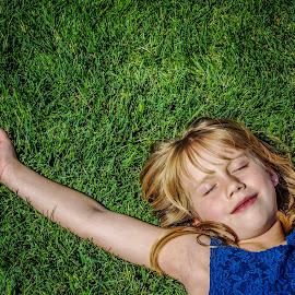 Ahhhhhhhhhhh..... Sunshine! by T Sco - Babies & Children Children Candids ( child, yard, relax, grass, happy, sunshine, fun, sun, kid )