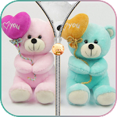 Free Download Teddy Bear Zipper Lock APK for Samsung