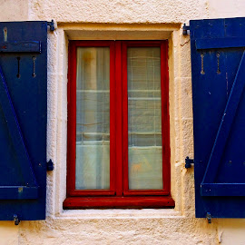Window by Dobrin Anca - Buildings & Architecture Architectural Detail ( st quay, sky, window, street, sea )
