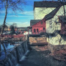 New Hope, Pennsylvania by Laura Horne - City,  Street & Park  Neighborhoods ( town building winter beauty canon )