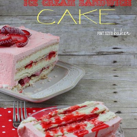 Strawberry Lemon Ice Cream Sandwich Cake