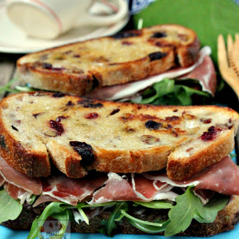 Cranberry Cheese and Prosciutto Sandwich