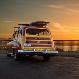 1950 Olds 88 by Jesse Beer - Transportation Automobiles ( canon, waves, jessebeer, santa cruz, sunrise, 1950, surf, oldsmobile )