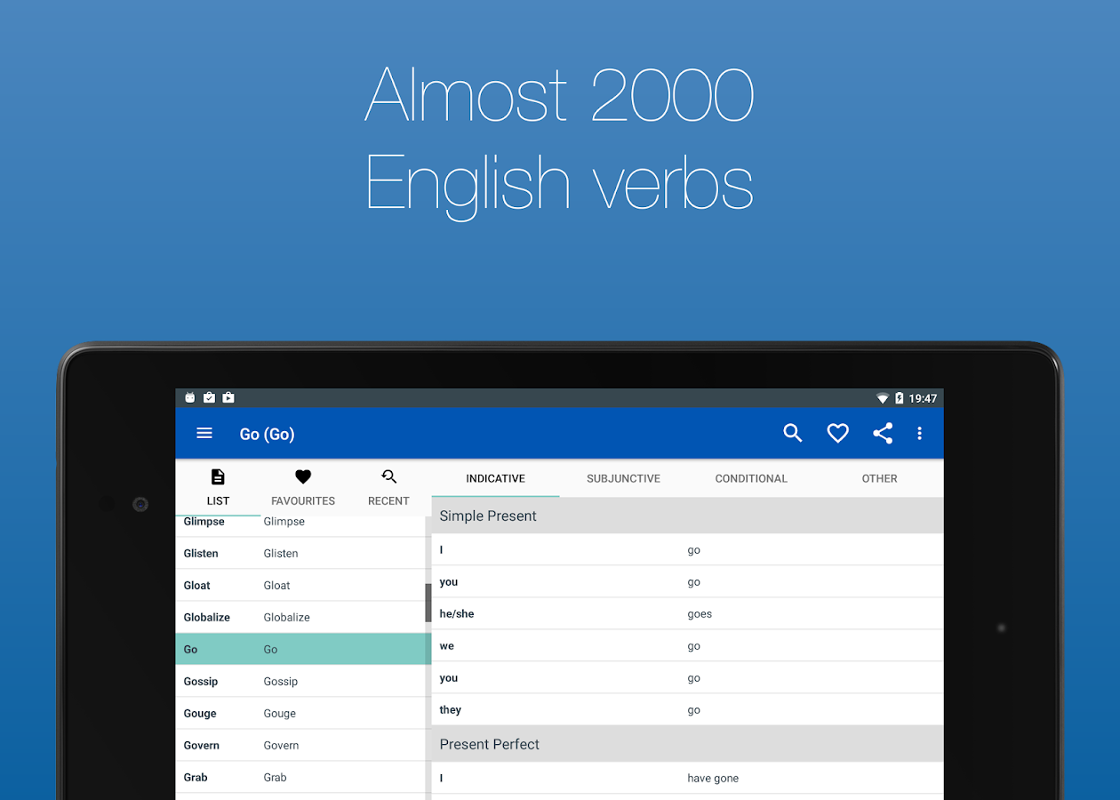 English Verb Conjugator Pro Screenshot 15