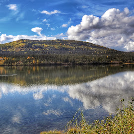 In The Reflection by Patricia Phillips - Landscapes Travel ( lakes reflections alaska autumn )
