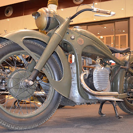 Old bike by Iulian Eracle - Transportation Motorcycles ( vintage, bmw, motorcycle, road, classic )