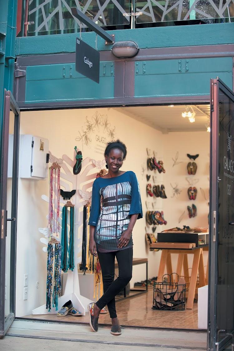 Adiambo Mula at her shop, Galago