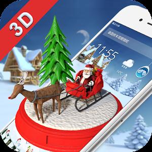 С Рождеством 3D Theme