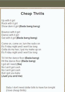 2016 Top Song Lyrics - screenshot