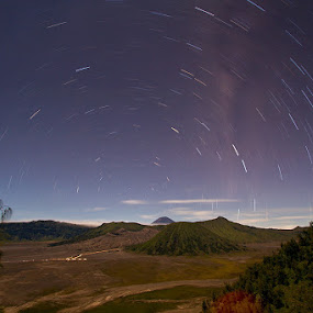 Startrail by Endra Martini - Landscapes Mountains & Hills