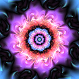 Flower 21 by Cassy 67 - Illustration Abstract & Patterns ( abstract, purple, wallpaper, digital, love, digital art, pink, harmony, fractal, flowers, fractals, light, flower )