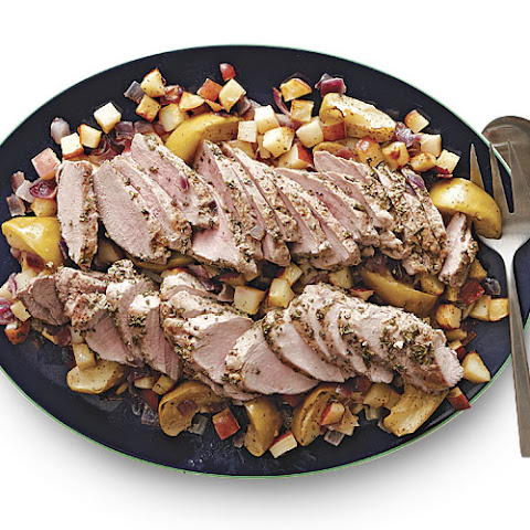 Herbed Pork Tenderloin with Mustard-Roasted Apples & Potatoes