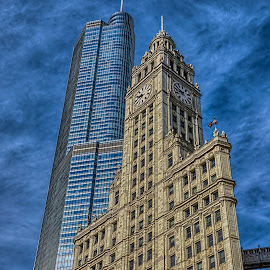 towers by Fred Faulkner - Buildings & Architecture Office Buildings & Hotels ( building, terra cotta, towers, chicago, wrigley building, architecture, office building, mag mile, trump tower, trump )