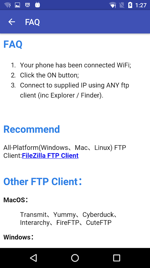 WiFi FTP Pro (File Transfer) Screenshot 2