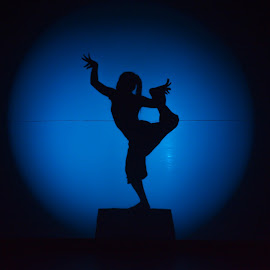 Apsara by Justine Carlyle - People Musicians & Entertainers ( silhouette, angkor, entertainment, siem reap, blue, apsara, tradition, phare, dance, circus, dancer, cambodia, culture, serenity, mood, factory, charity, autism, light, awareness, lighting, bulbs, LIUB, april 2nd )
