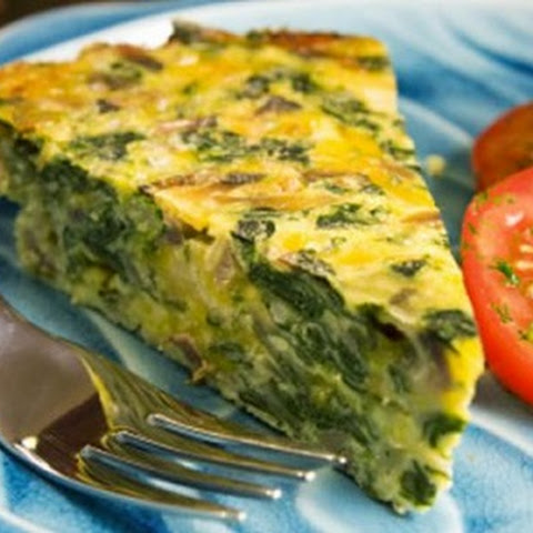 WARM EGG WHITE/SPINACH QUICHE