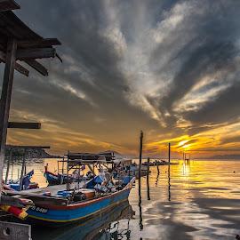 Dove Jetty by Lim Keng - Transportation Boats