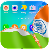 Indian Flag Zipper Lock App APK for Bluestacks