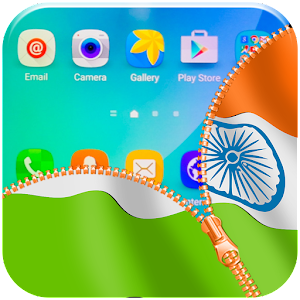 Indian Flag Zipper Lock App for Android