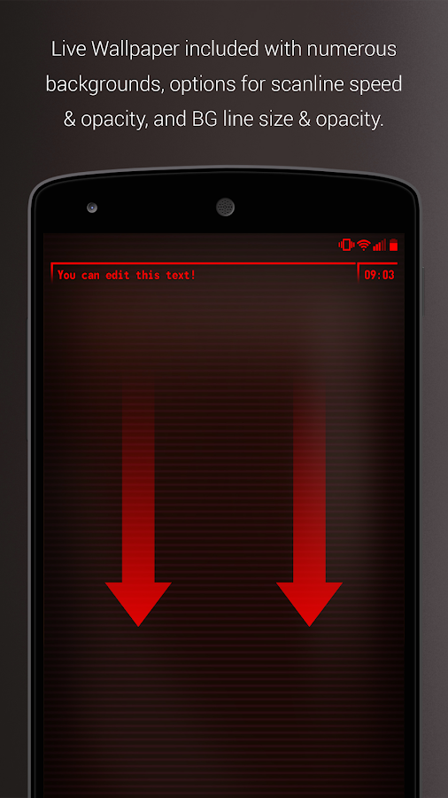 PipTec Red Icons & Live Wall Screenshot 1