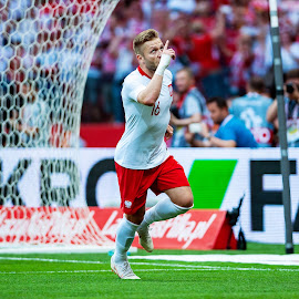 Jakub Blaszczykowski by Paweł Mielko - Sports & Fitness Soccer/Association football ( polish player, goal, sports, world cup, poland, football, sport photography, nikon, celebration, footballer, kuba, sport, blaszczykowski, jakub blaszczczykowski )