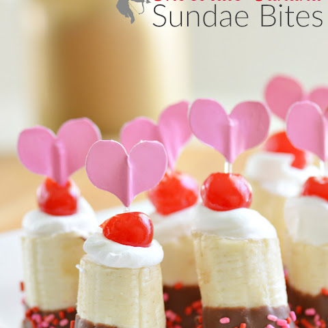 Chocolate Banana Sundae Bites