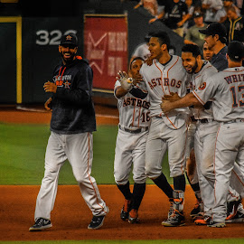 game winner by Prentiss Findlay - Sports & Fitness Baseball ( astros win, carlos correa, houston astros, correa game winner, astros )