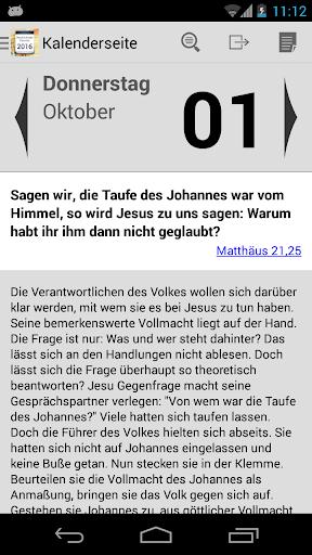 Neukirchener Kalender 2016 - screenshot