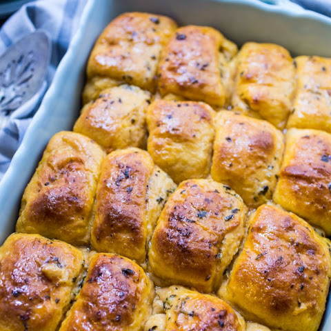 Sweet Potato Herb Parker House Rolls