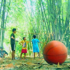 village child by El Baim as TOMMY AR - Sports & Fitness Soccer/Association football