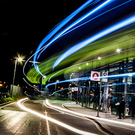 Where are the buses? by Jo Ebony - Transportation Roads ( whereisit?, busesinlondon, gonebuses, whichbus?, road, mood factory, color, lighting, moods, colorful, light, bulbs, mood-lites )
