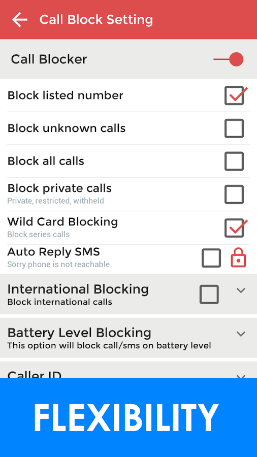 VBlocker: Call and SMS Blocker Screenshot 3