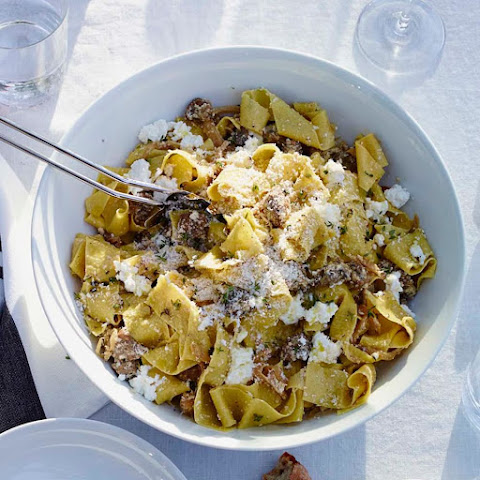 Fresh Pappardelle with Sausage, Fennel and Ricotta